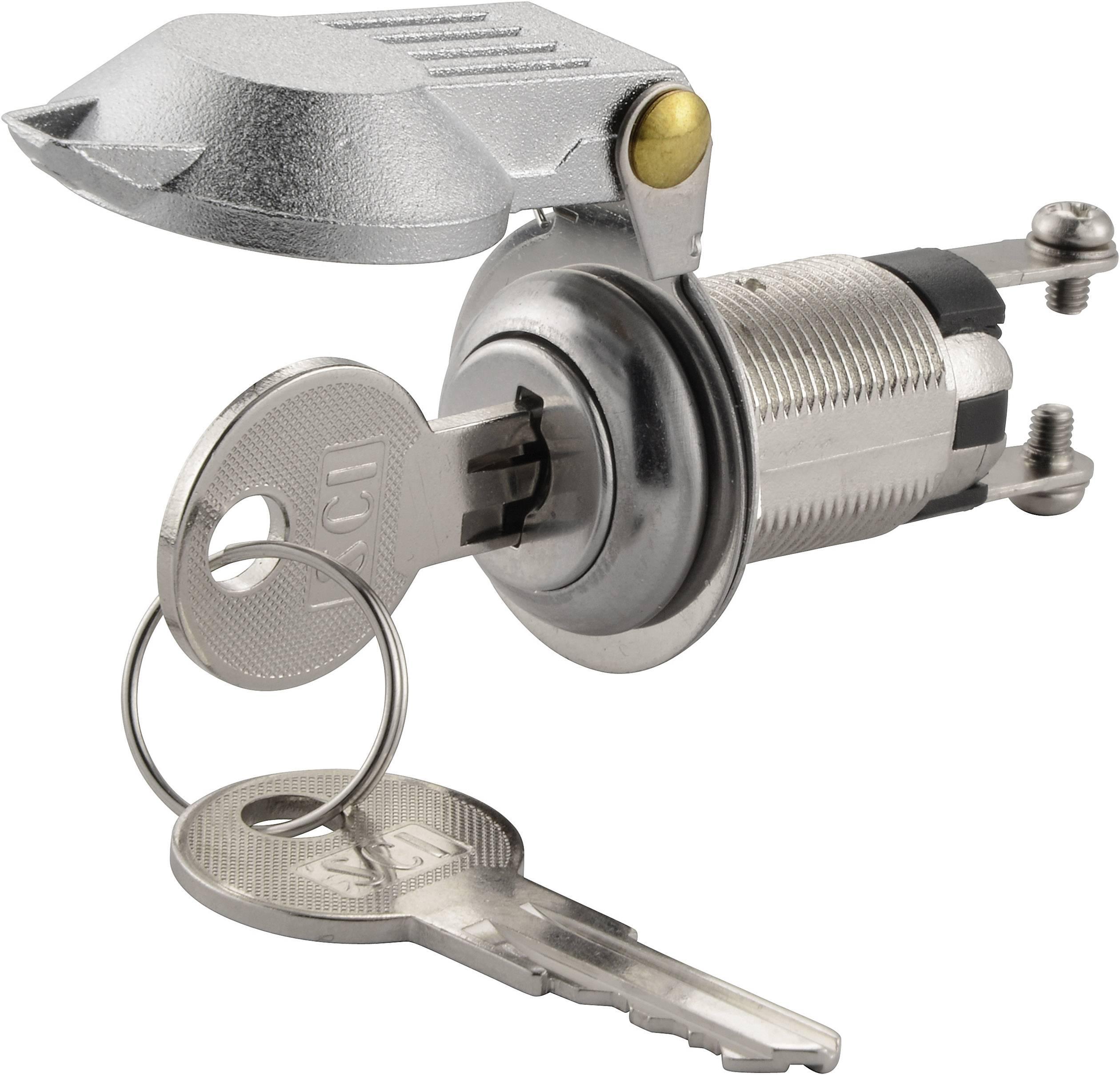 Kľúčový spínač SCI K3-16A2-06 701169, 250 V/AC, 1.5 A, 1x vyp/zap, 1 x 90 °, 1 ks