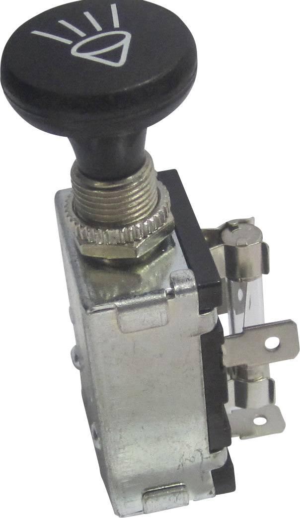 Ťahový spínač do auta SCI A3-20A-SQ, 12 V/DC, 30 A, s aretáciou, 1 ks