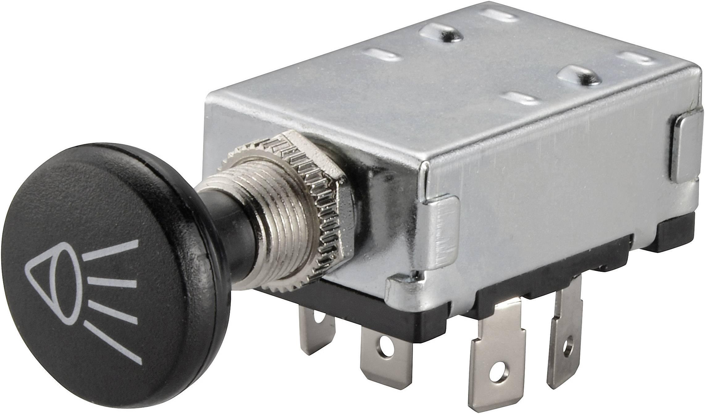 Ťahový spínač do auta TRU COMPONENTS TC-A3-20B-SQ, 12 V/DC, 30 A, s aretáciou, 1 ks