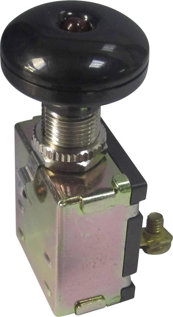 Ťahový spínač do auta SCI A3-26L-SC M4 LED RED, 12 V/DC, 30 A, s aretáciou, 1 ks