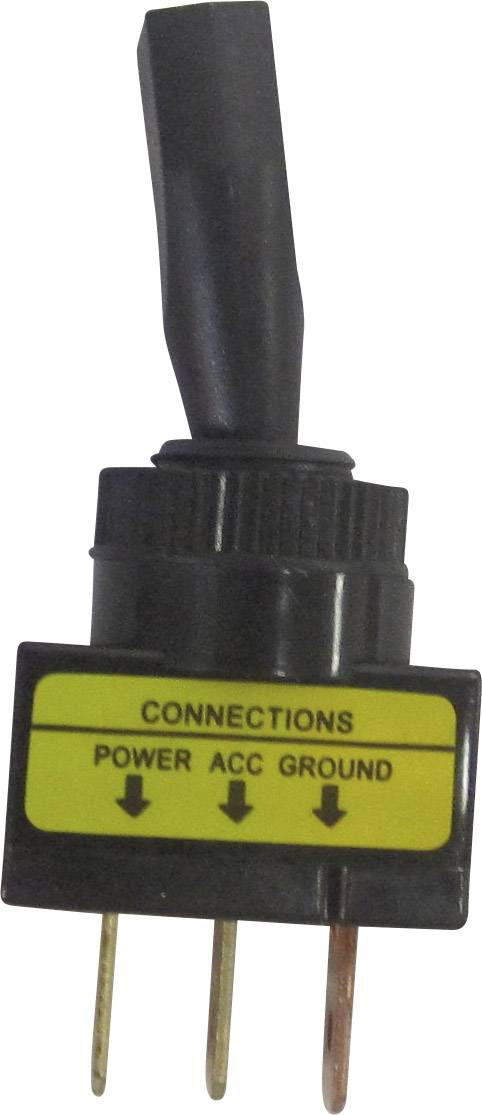 Páčkový prepínač do auta SCI R13-61L ILLUMINATED RED, 12 V/DC, 20 A, s aretáciou, 1 ks