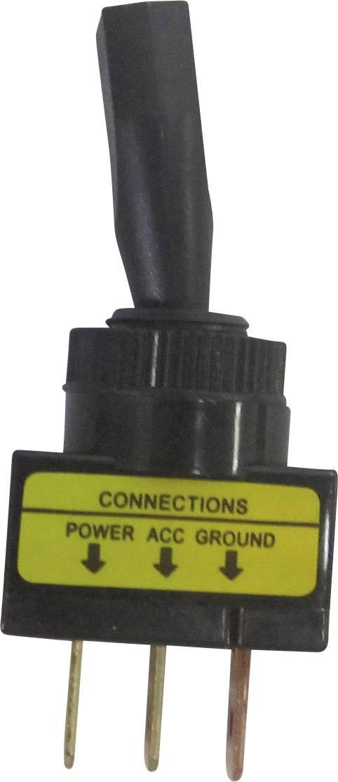 Páčkový prepínač do auta TRU COMPONENTS TC-R13-61L ILLUMINATED RED, 12 V/DC, 20 A, s aretáciou, 1 ks
