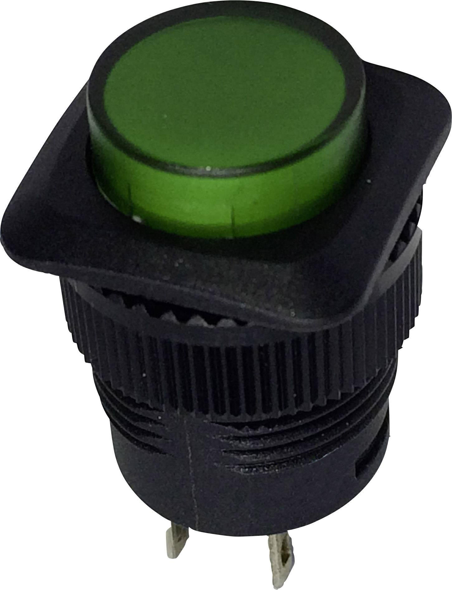 Stláčacie tlačidlo SCI R13-508A-05GN, 250 V/AC, 1.5 A, 1 ks