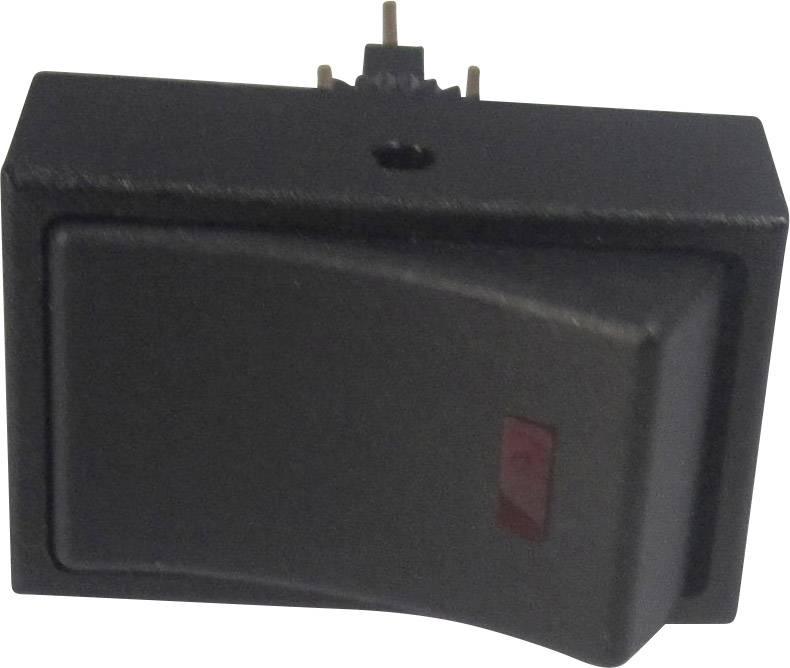 Kolébkový přepínač do auta TRU COMPONENTS TC-R13-207L-SQ RED 12V/DC, 12 V/DC, 20 A, s aretací, 1 ks