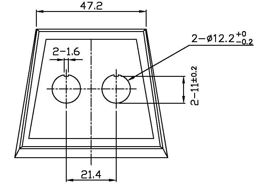 Montážna doska 2-násobné vyhotovenie SCI PR18-A2, 1 ks