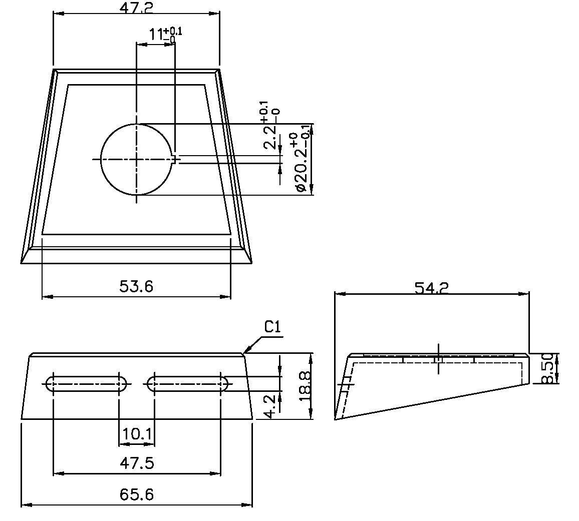 Montážna doska SCI PR18-A7 701207, 1 ks
