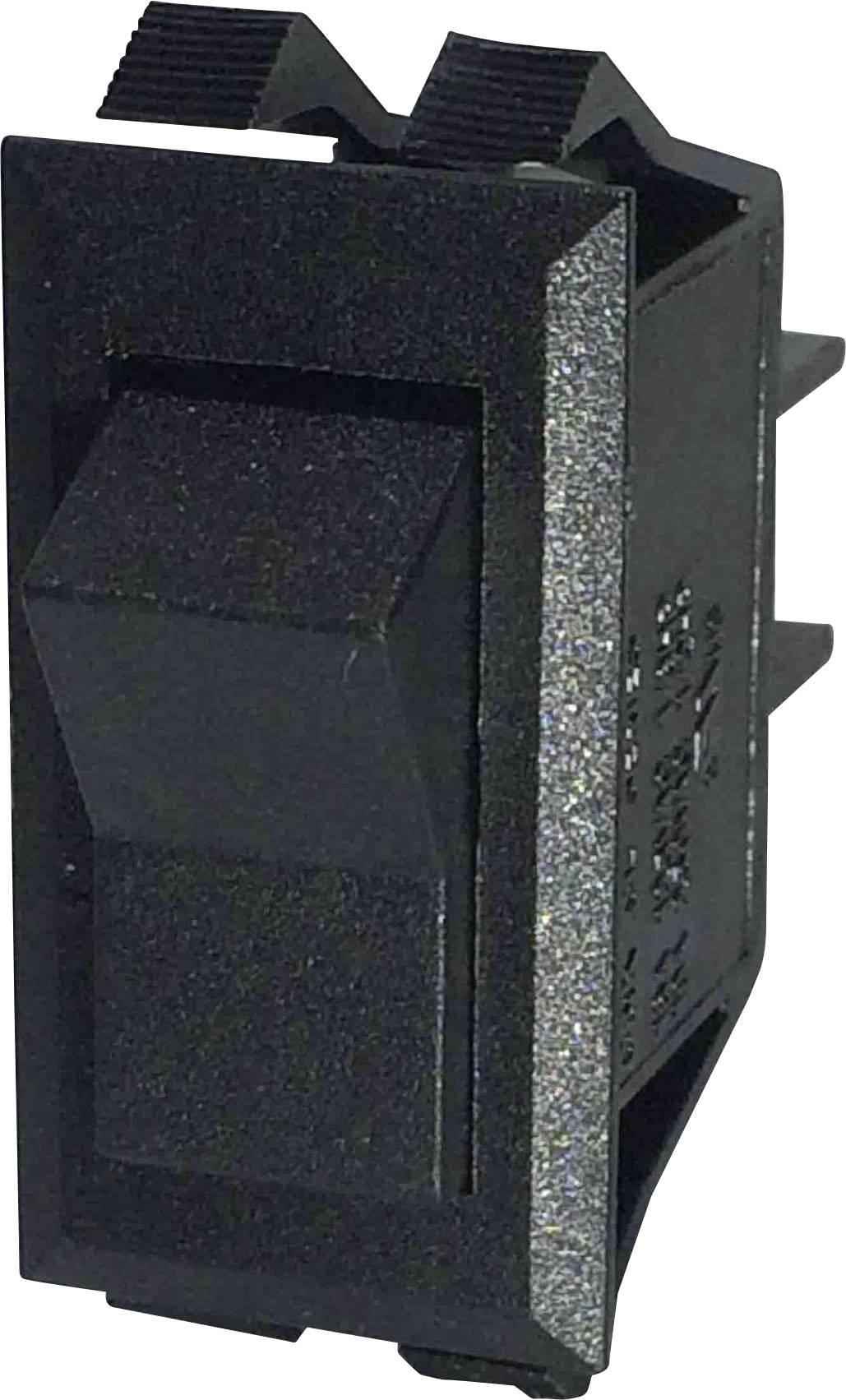 Kolískový spínač SCI R13-72C-01 s aretáciou 250 V/AC, 10 A, 1 zap/zap, čierna, 1 ks