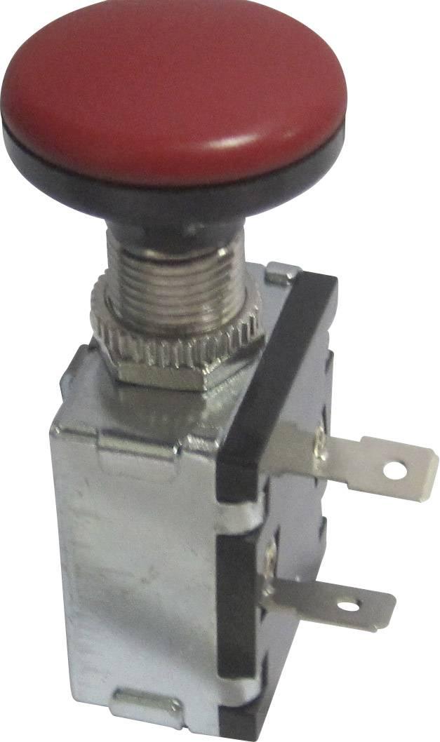 Vypínač do auta TRU COMPONENTS TC-A3-26B-SQ RED, 12 V/DC, 30 A, s aretací, 1 ks