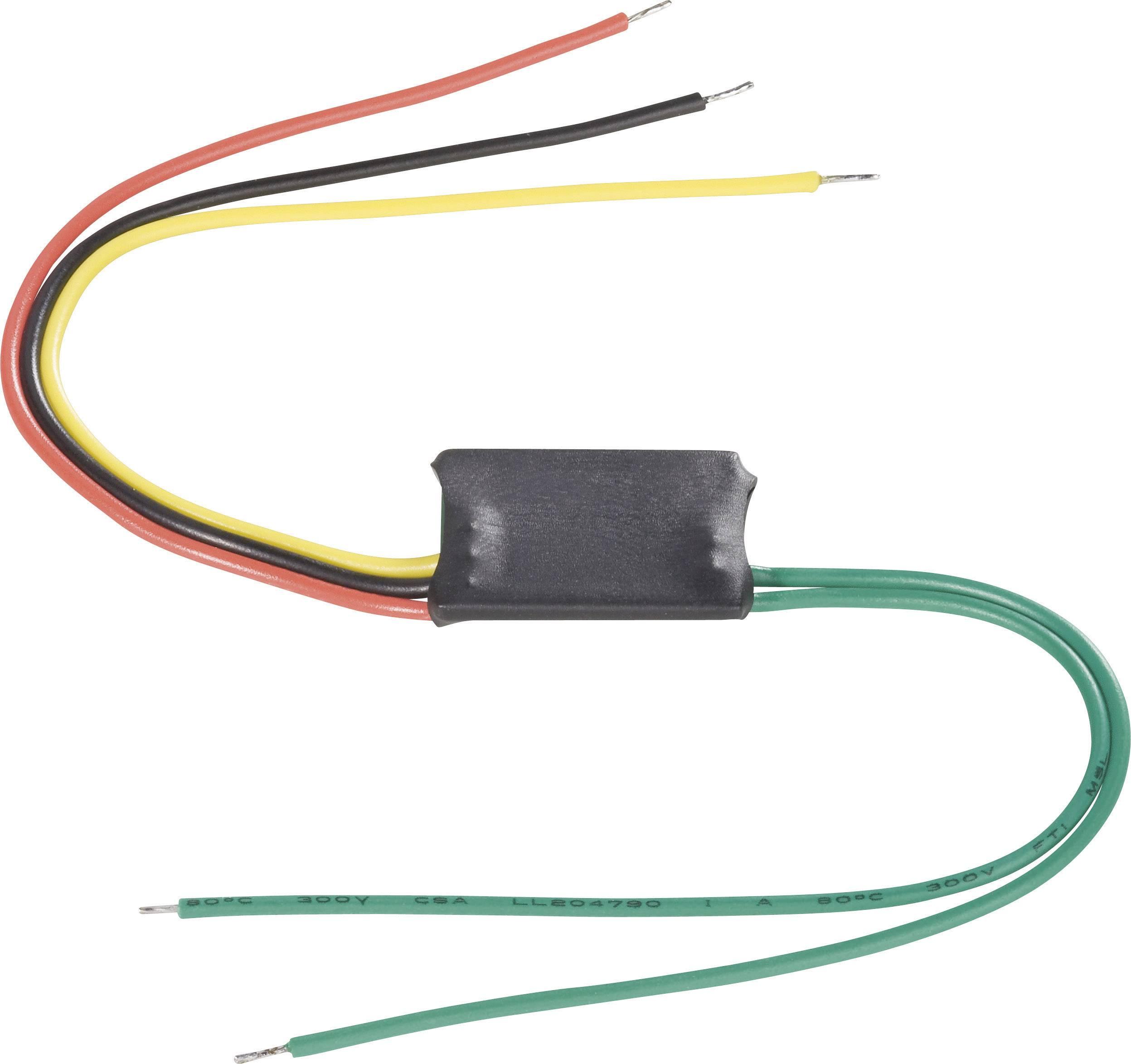Frekvenční měnič, 35 V, 1,5 A, kabel bez konektorů, 1x vyp/zap