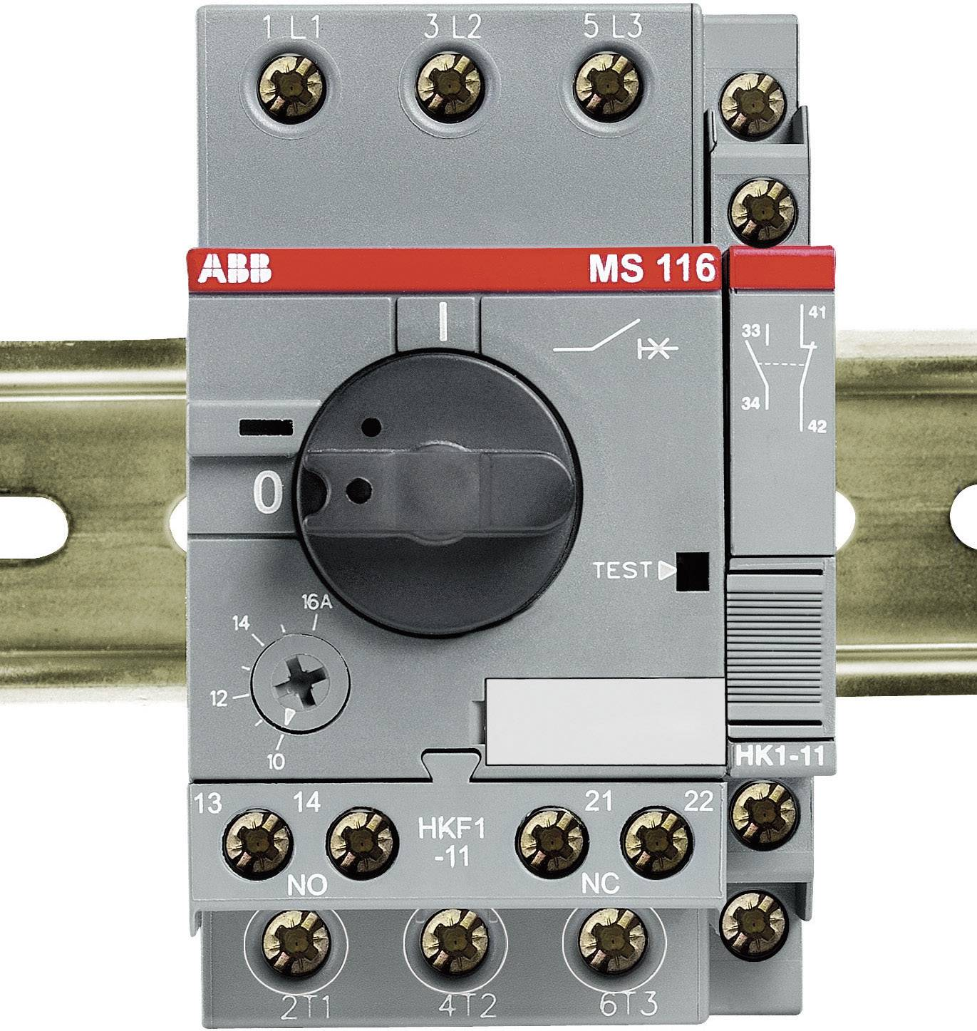Ochranný spínač motora nastaviteľné ABB MS 116-6,3 1SAM 250 000 R1009, 690 V/AC, 6.3 A, 1 ks
