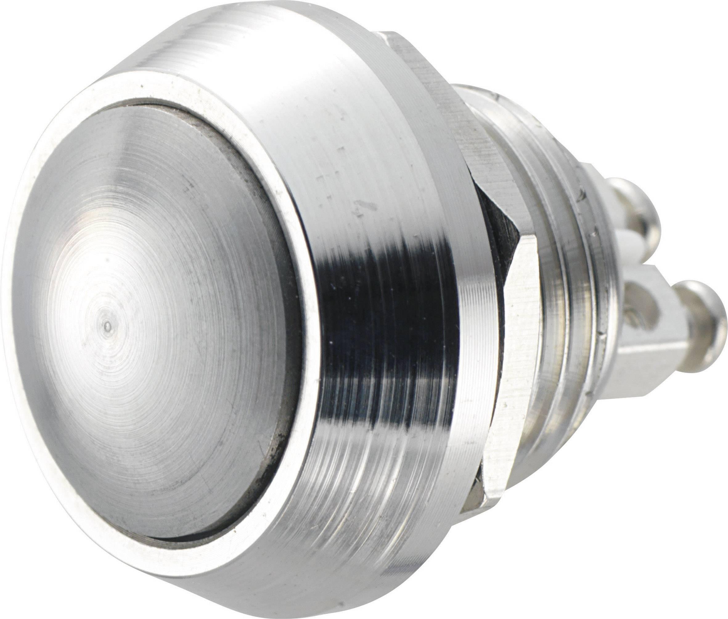 Stláčacie tlačidlo s ochranou pred vandalmi TRU COMPONENTS GQ 12B-N, 48 V/DC, 2 A, 1 ks