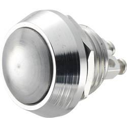 Stláčacie tlačidlo s ochranou pred vandalmi TRU COMPONENTS GQ 12B-N, 48 V/DC, 2 A, mosadz, 1 ks