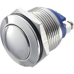 Stláčacie tlačidlo s ochranou pred vandalmi TRU COMPONENTS GQ 19B-N, 48 V/DC, 2 A, poniklovaný, 1 ks