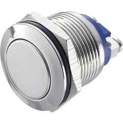 Stláčacie tlačidlo s ochranou pred vandalmi TRU COMPONENTS GQ 19F-N, 48 V/DC, 2 A, poniklovaný, 1 ks