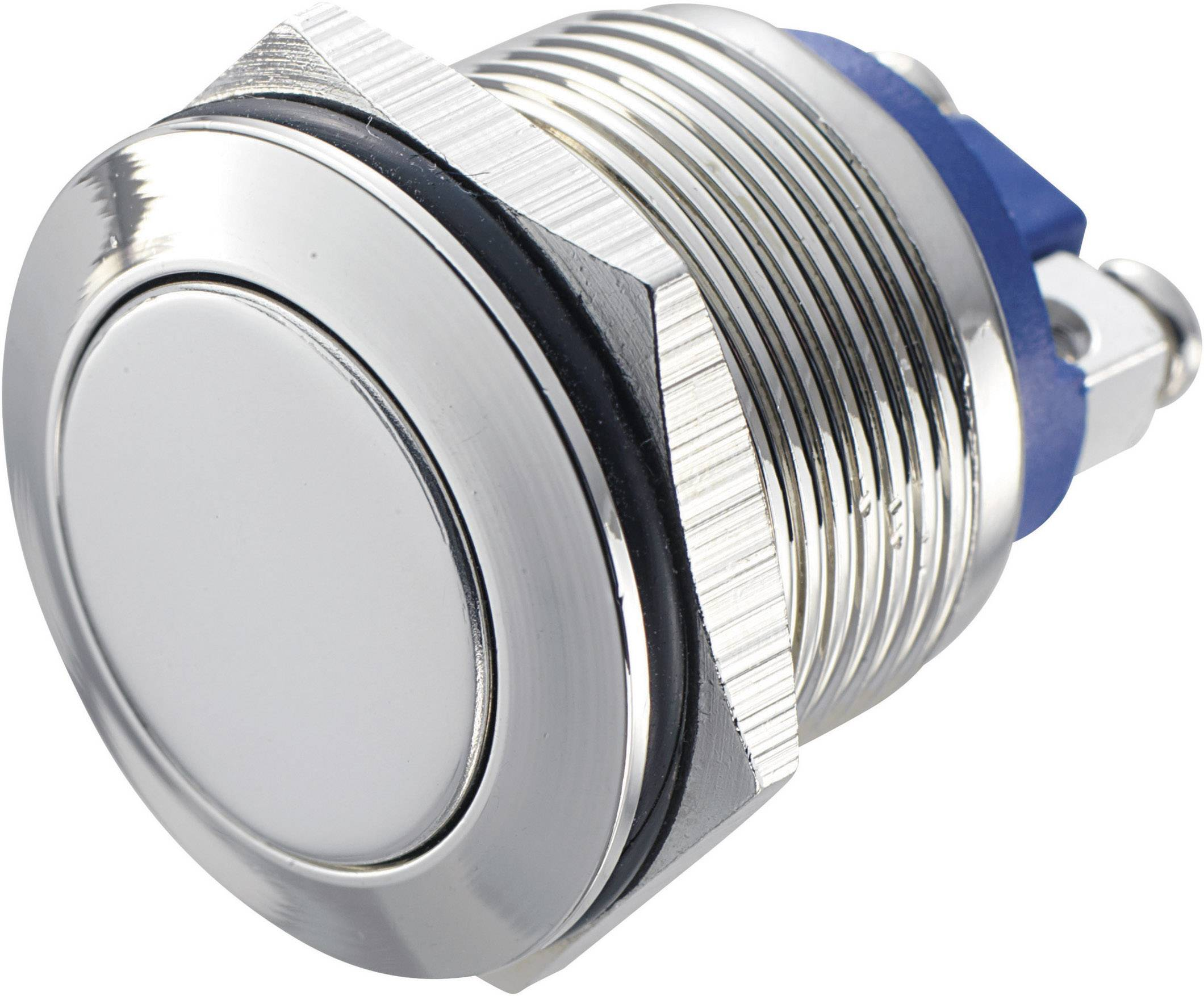 Tlačítko antivandal bez aretace TRU COMPONENTS GQ 19F-N, 48 V/DC, 2 A, mosaz, 1x vyp/(zap)