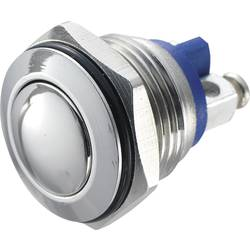 Stláčacie tlačidlo s ochranou pred vandalmi TRU COMPONENTS GQ 16B-S, 48 V/DC, 2 A, nerezová oceľ, 1 ks