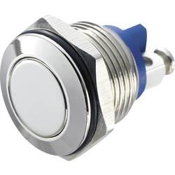 Stláčacie tlačidlo s ochranou pred vandalmi TRU COMPONENTS GQ 16F-N, 48 V/DC, 2 A, mosadz, 1 ks