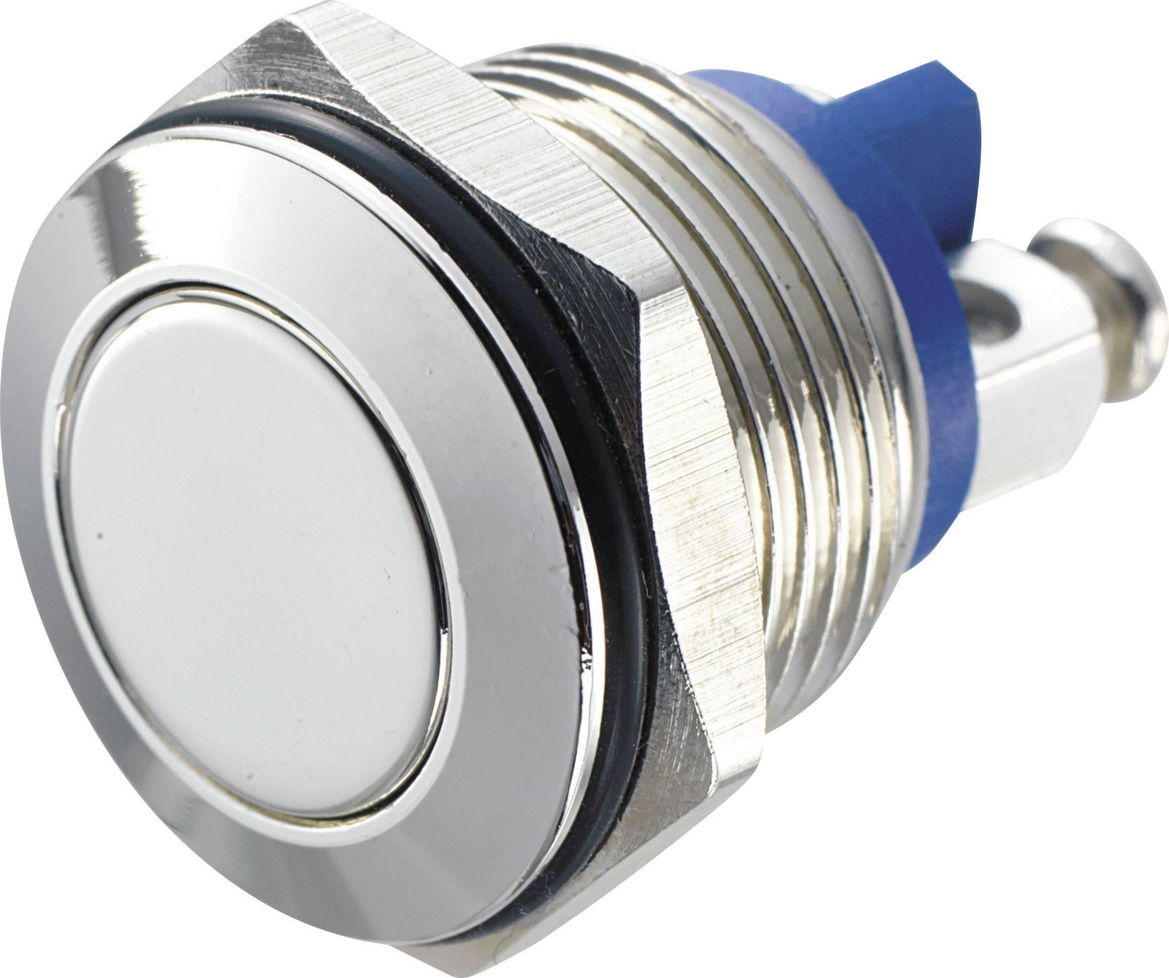 Tlačítko antivandal TRU COMPONENTS GQ 16F-N, 48 V/DC, 2 A, 1 ks