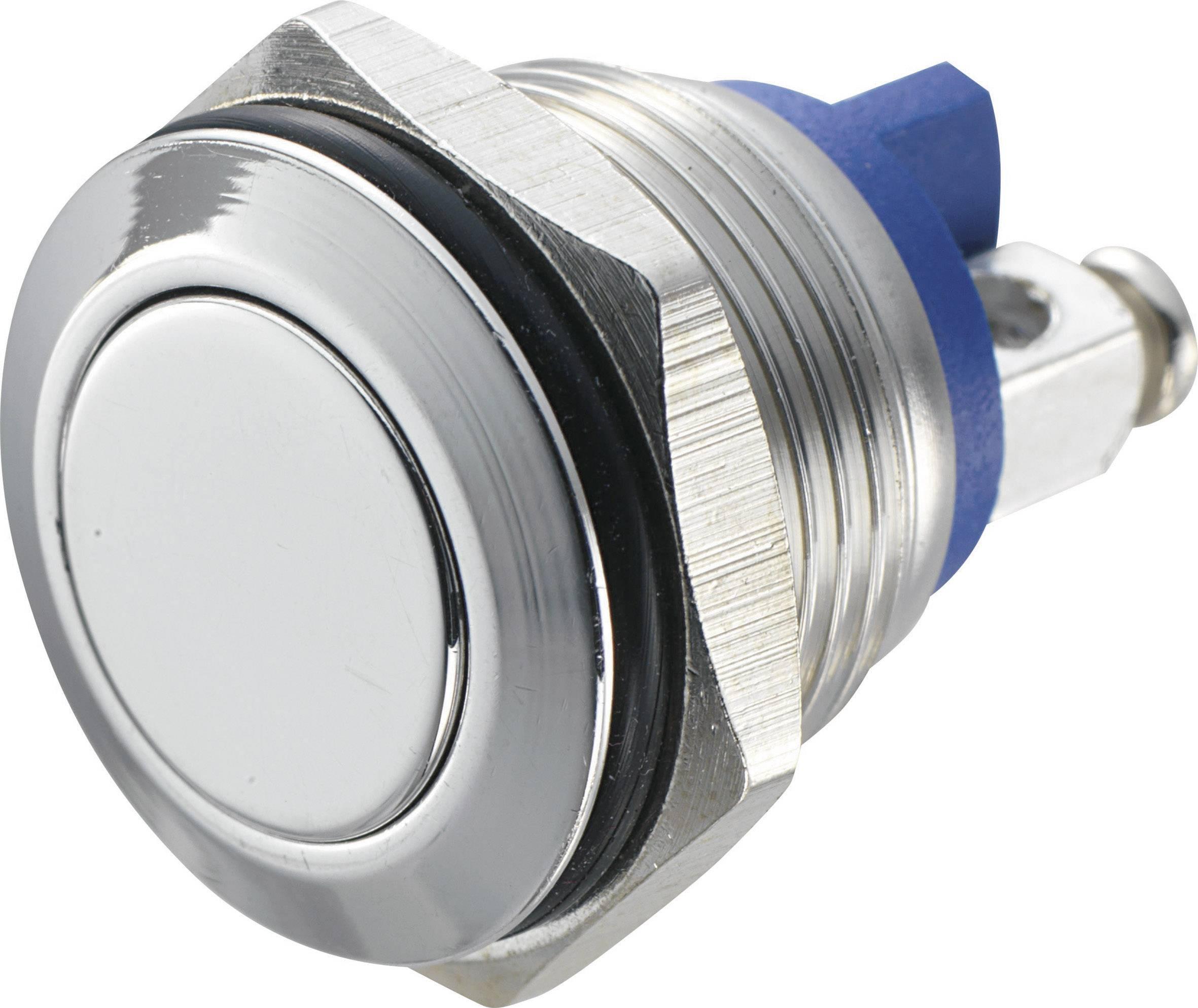 Stláčacie tlačidlo s ochranou pred vandalmi TRU COMPONENTS GQ 16F-S, 48 V/DC, 2 A, 1 ks