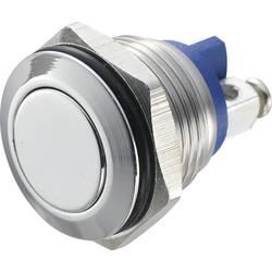 Stláčacie tlačidlo s ochranou pred vandalmi TRU COMPONENTS GQ 16F-S, 48 V/DC, 2 A, nerezová oceľ, 1 ks