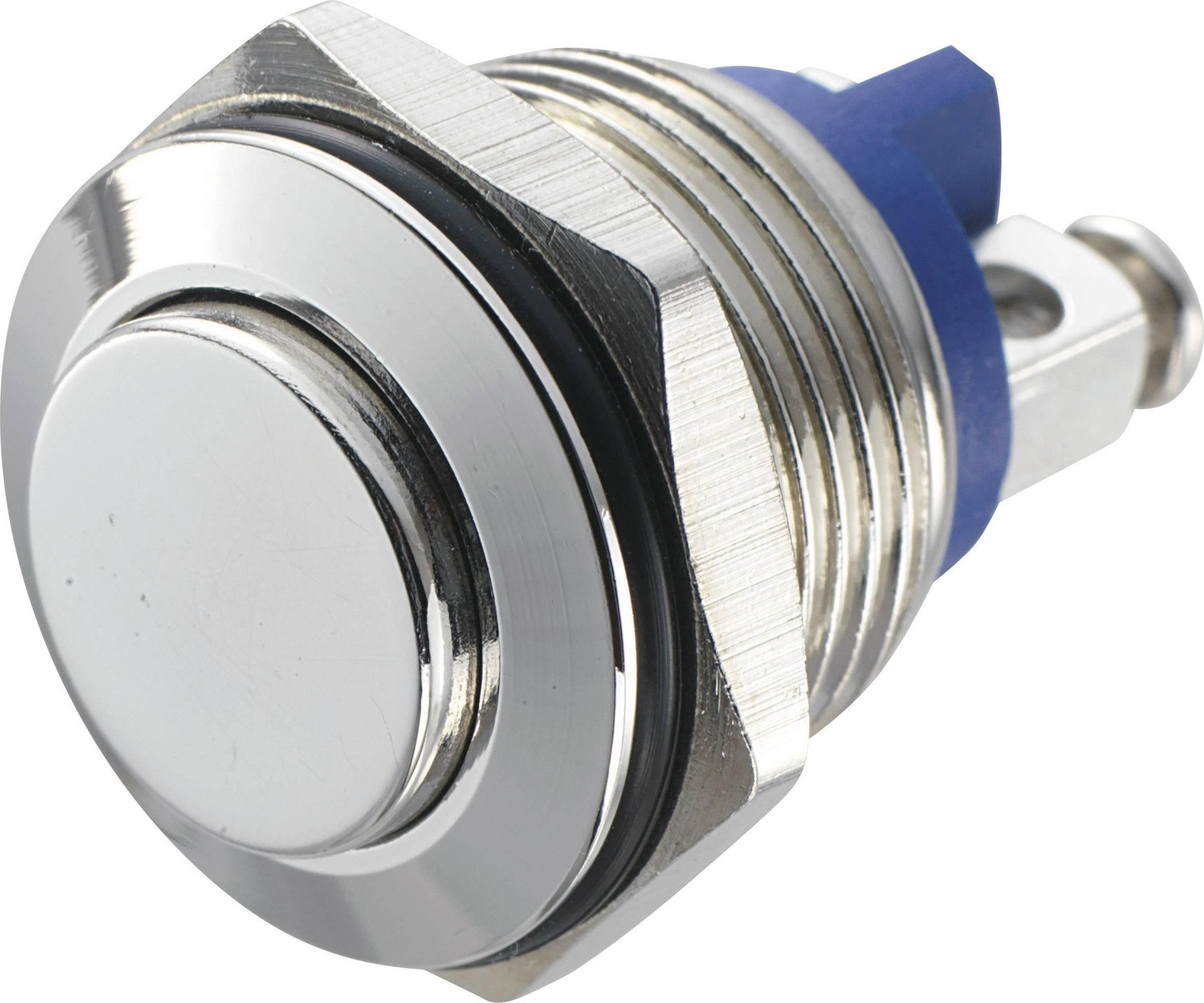 Stláčacie tlačidlo s ochranou pred vandalmi TRU COMPONENTS GQ 16H-N, 48 V/DC, 2 A, 1 ks
