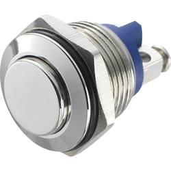 Stláčacie tlačidlo s ochranou pred vandalmi TRU COMPONENTS GQ 16H-N, 48 V/DC, 2 A, mosadz, 1 ks