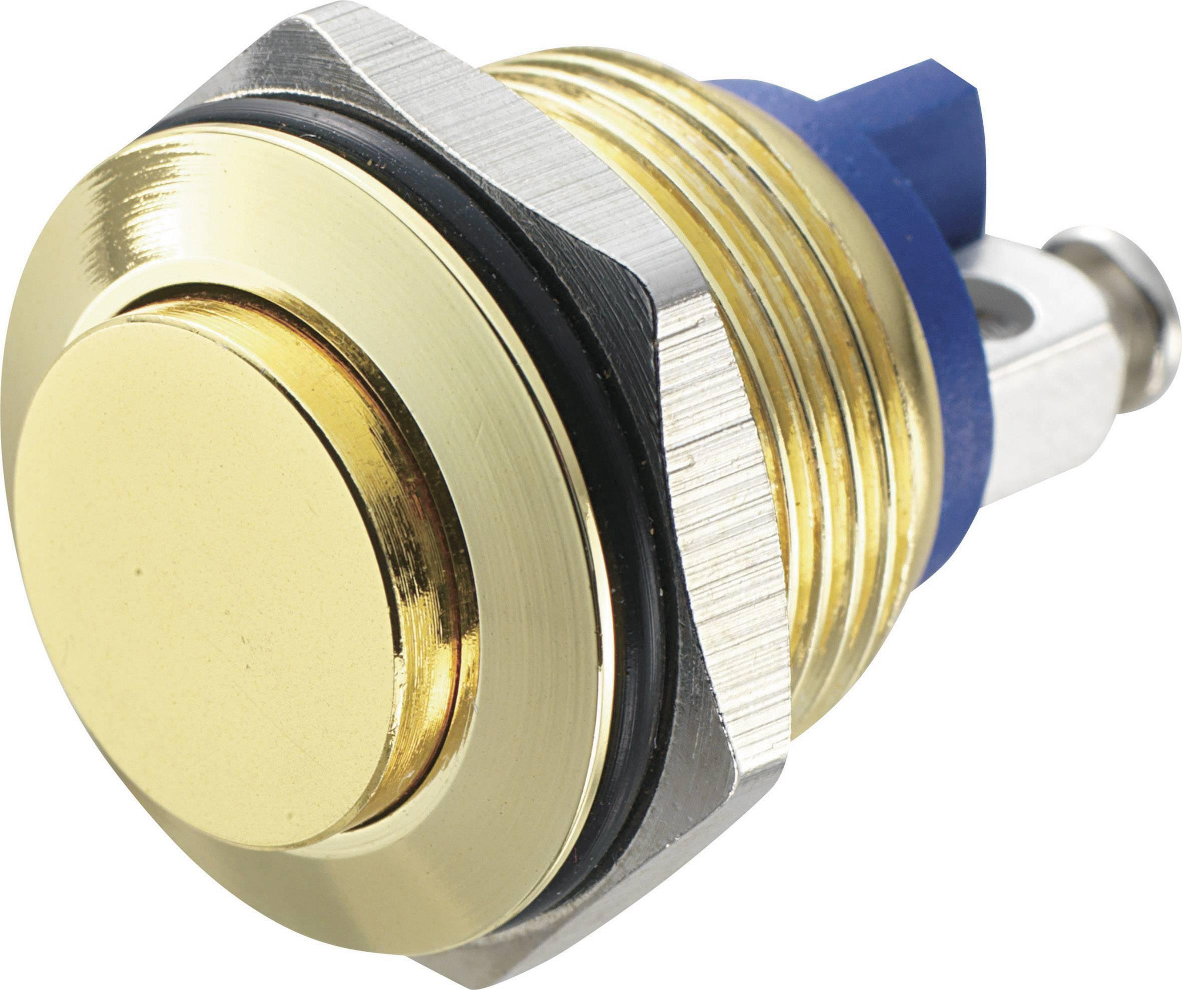 Stláčacie tlačidlo s ochranou pred vandalmi TRU COMPONENTS GQ 16H-G, 48 V/DC, 2 A, 1 ks