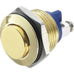Stláčacie tlačidlo s ochranou pred vandalmi TRU COMPONENTS GQ 16H-G, 48 V/DC, 2 A, zlatá, 1 ks