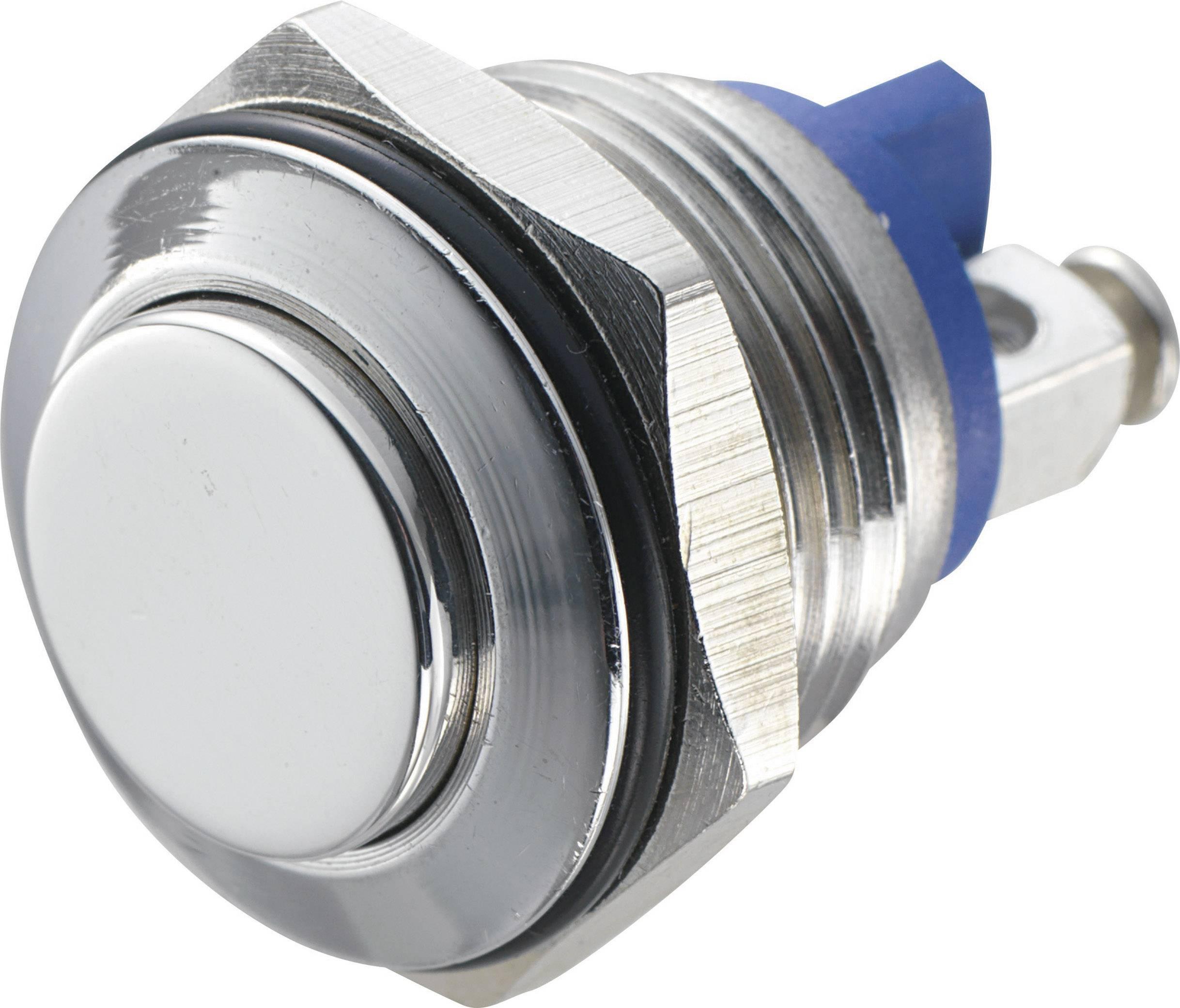 Stláčacie tlačidlo s ochranou pred vandalmi TRU COMPONENTS GQ 16H-S, 48 V/DC, 2 A, 1 ks