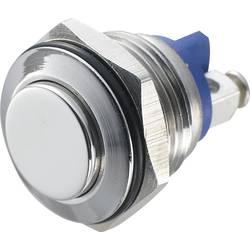 Stláčacie tlačidlo s ochranou pred vandalmi TRU COMPONENTS GQ 16H-S, 48 V/DC, 2 A, nerezová oceľ, 1 ks
