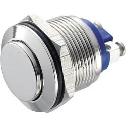 Stláčacie tlačidlo s ochranou pred vandalmi TRU COMPONENTS GQ 19H-N, 48 V/DC, 2 A, poniklovaný, 1 ks