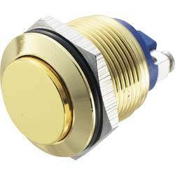 Stláčacie tlačidlo s ochranou pred vandalmi TRU COMPONENTS GQ 19H-G, 48 V/DC, 2 A, mosadz, 1 ks