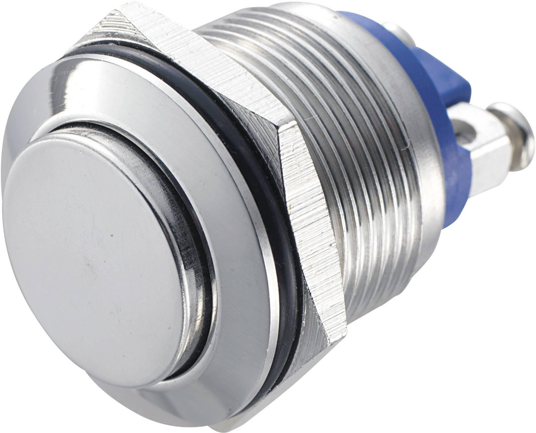 Stláčacie tlačidlo s ochranou pred vandalmi TRU COMPONENTS GQ 19H-S, 48 V/DC, 2 A, 1 ks