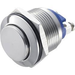 Tlačítko antivandal TRU COMPONENTS GQ 19H-S, 48 V/DC, 2 A, nerezová ocel, 1 ks