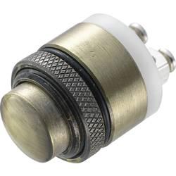 Stláčacie tlačidlo s ochranou pred vandalmi TRU COMPONENTS GQ-16B-M, 48 V/DC, 2 A, mosadz, 1 ks