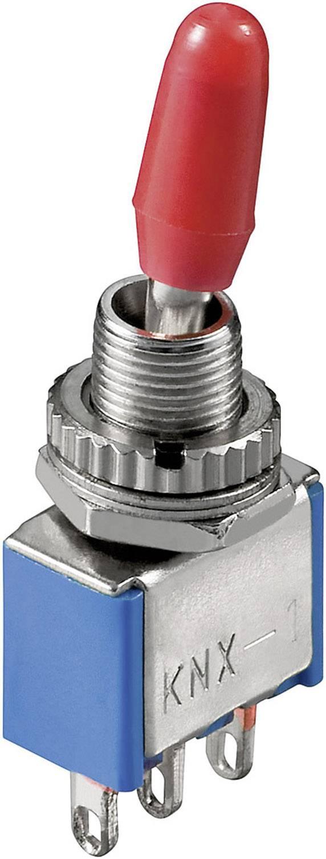 Miniaturní páčkový spínač Goobay KNX 2, 250 V/AC, 3 A, 2x zap/zap, 1 ks