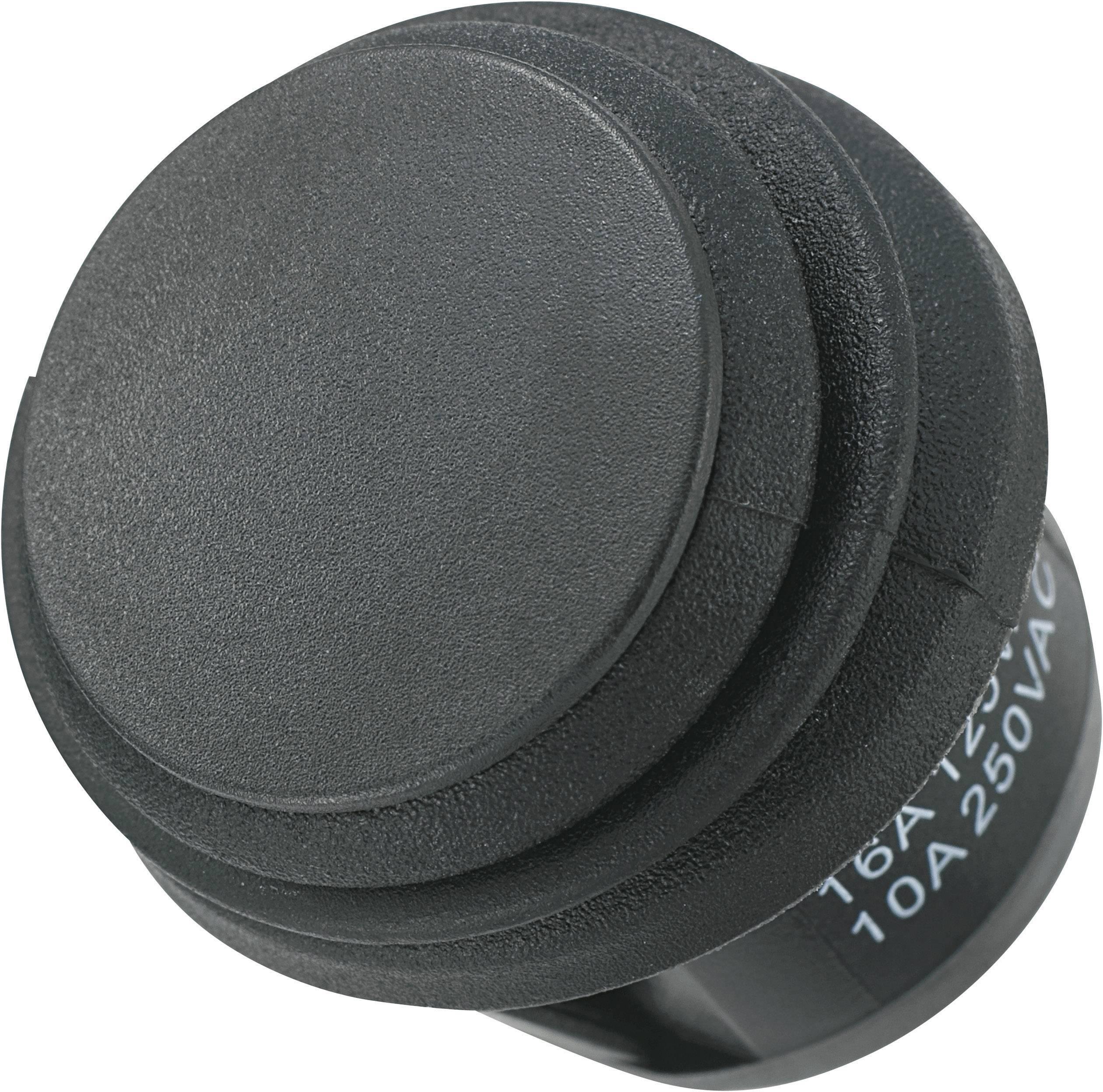 Kolébkový přepínač SCI R13-112E8-02, 20,2 mm, 250 V/AC, 10 A, 1x zap/(vyp)