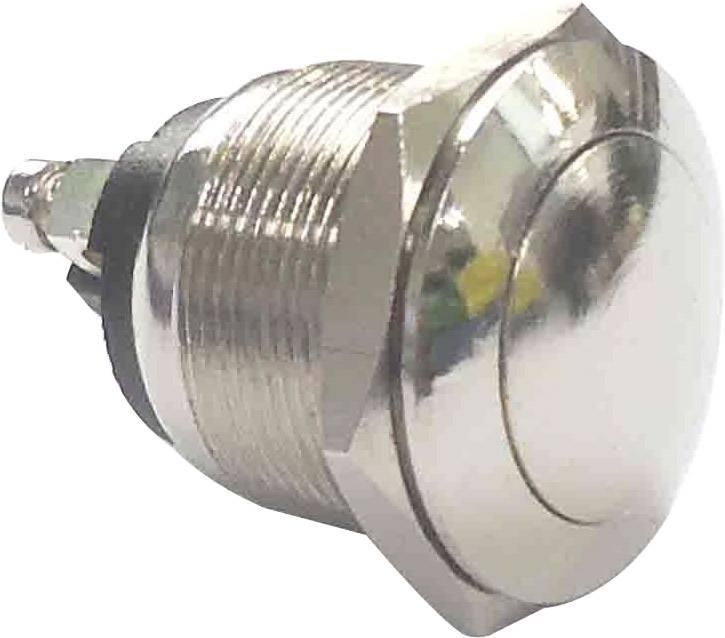 Stláčacie tlačidlo s ochranou pred vandalmi PBS-28B, 250 V/AC, 2 A, strieborná, 1 ks