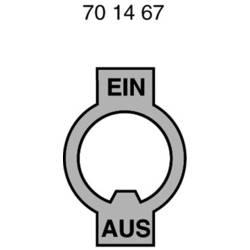 Štítek kovový ZAP/VYP Marquardt německy (š x v) 16 mm x 28 mm