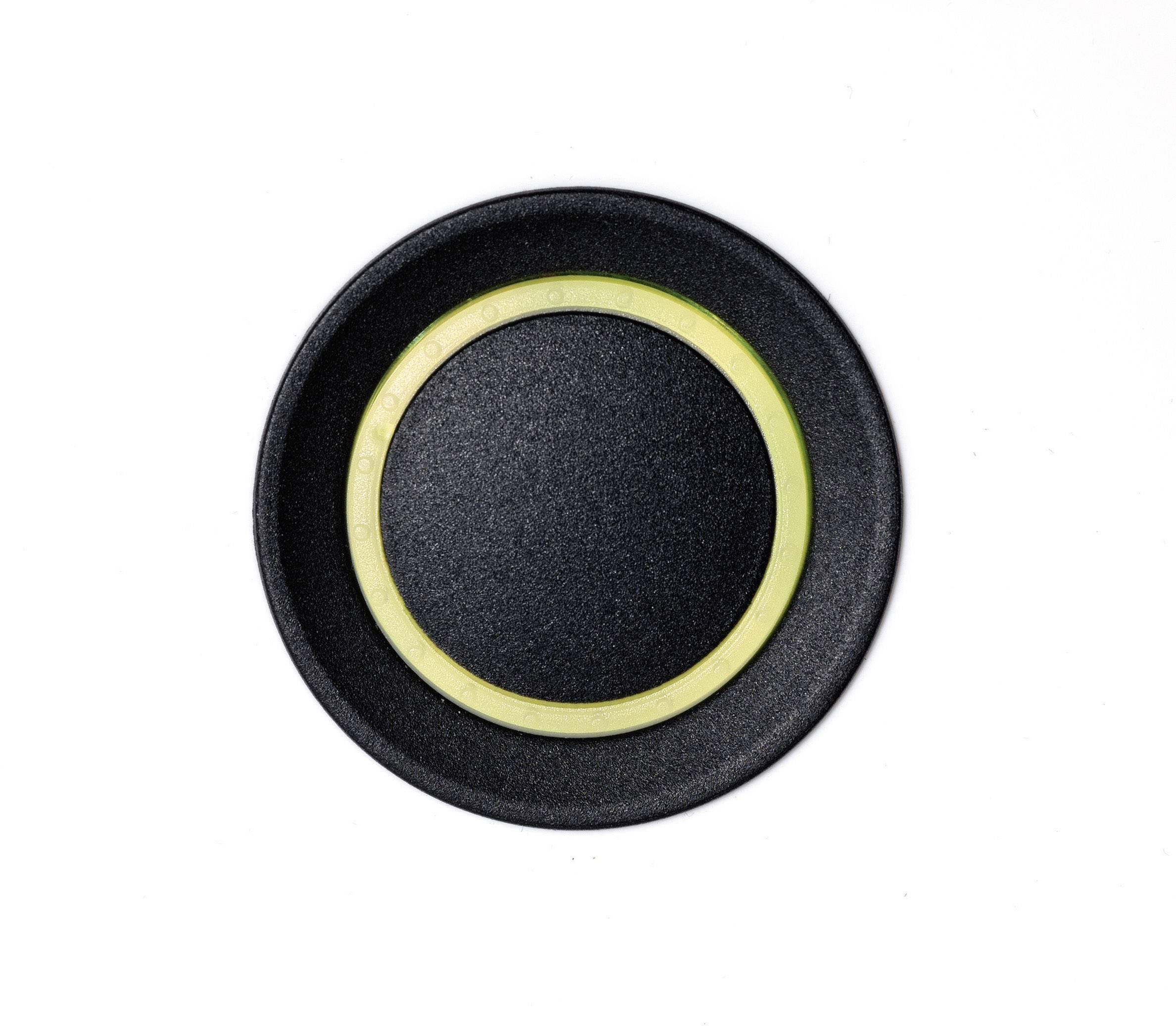 Ovládácí knoflík OKW D8733039, 6 mm, podsvícení RGB, černá