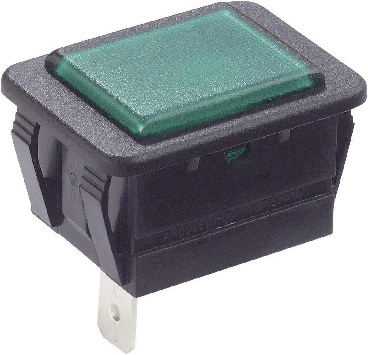 Signalizačné svetlá Arcolectric C0480ABNAC, zelená, čierna, 1 ks