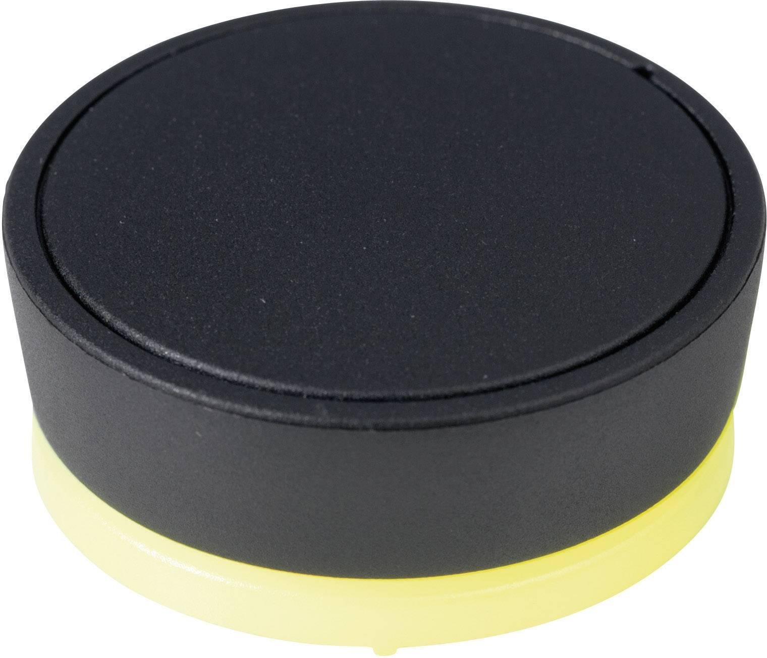 Otočný gombík OKW D8741019, (Ø x v) 41 mm x 21 mm, čierna, 1 ks