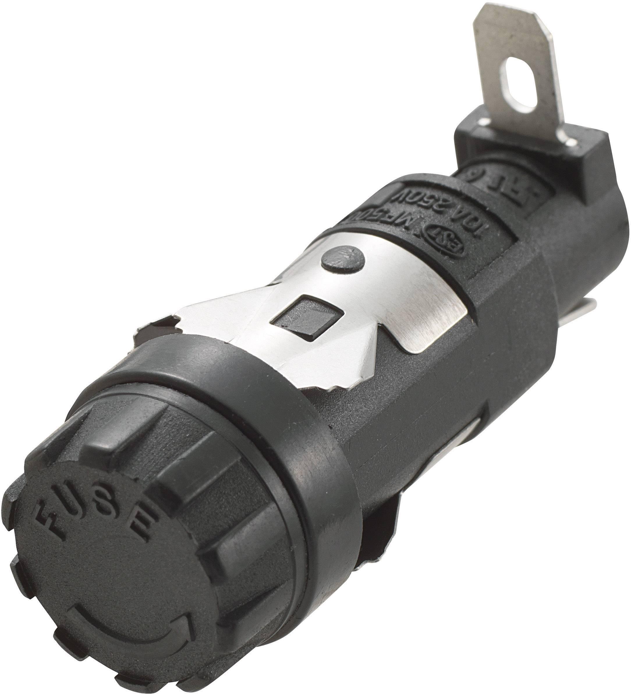 Držiak poistky TRU COMPONENTS R3-11 533858, Vhodné pre poistky 5 x 20 mm, 10 A, 250 V/AC, 1 ks