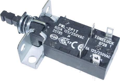 Kolískový spínač, tlačidlový spínač PWL-2P1TL-6SASHA, 250 V/AC, 6 A, 1 ks