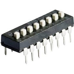 DIP přepínač TE Connectivity ADE0604, 1825057-7, 8pólový RM2,54