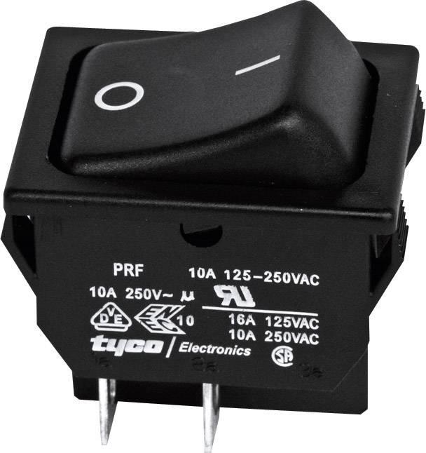 Kolískový spínač s aretáciou TE Connectivity 1634201-2, 250 V/AC, 10 A, 2x vyp/zap, 1 ks