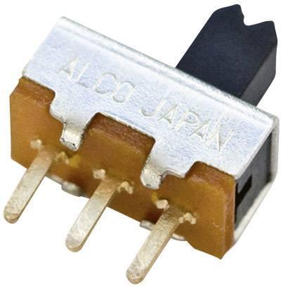 Posuvný prepínač TE Connectivity 1825115-1, 125 V/AC, 0.25 A, 1 zap/zap, 1 ks
