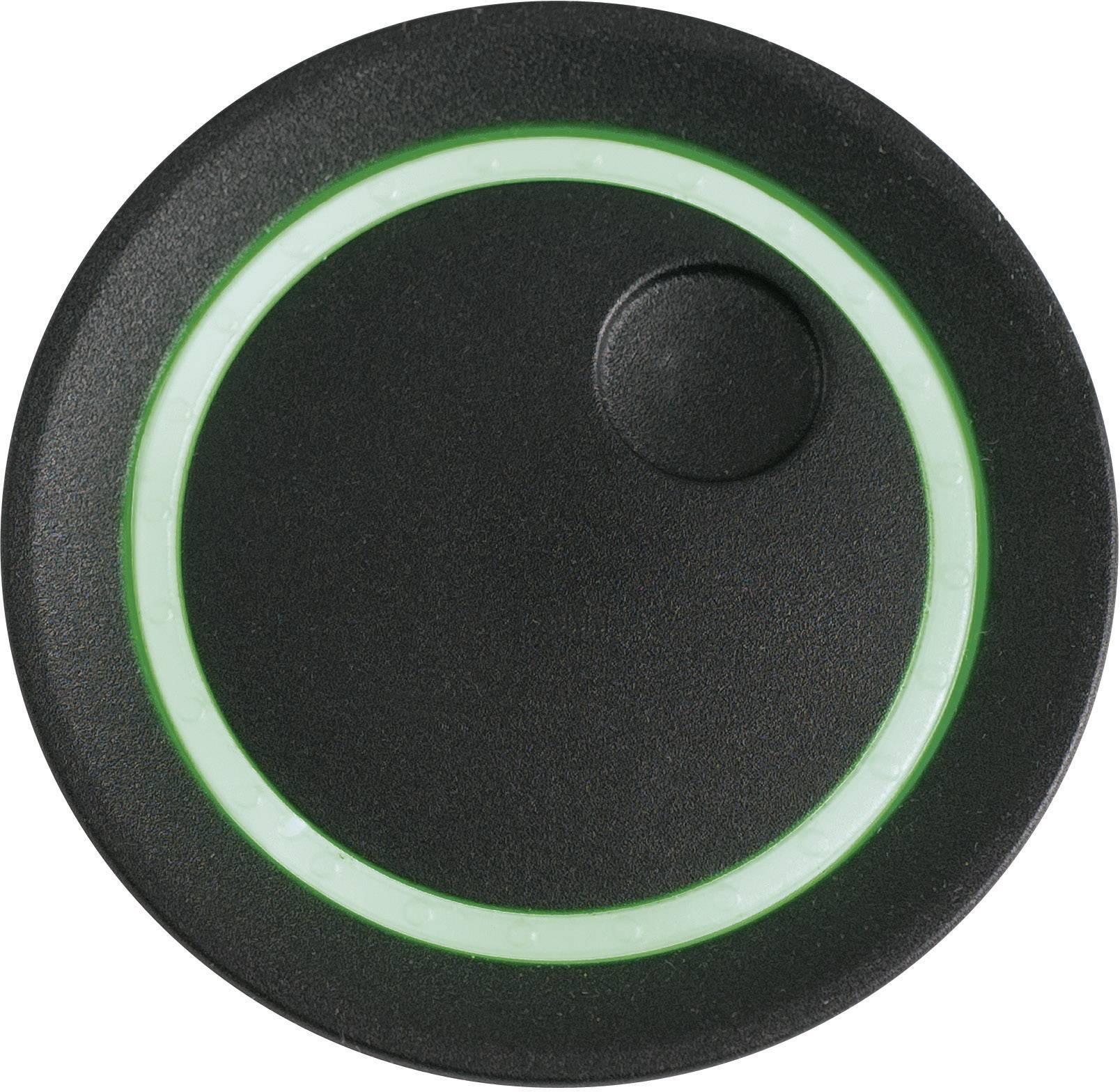 Otočný gombík OKW D8741039, (Ø x v) 41 mm x 21 mm, čierna, 1 ks
