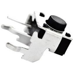 Tlačítko bez aretace TE Connectivity 1-1825027-1, 24 V/DC, 0.05 A, černá, 1x vyp/(zap)
