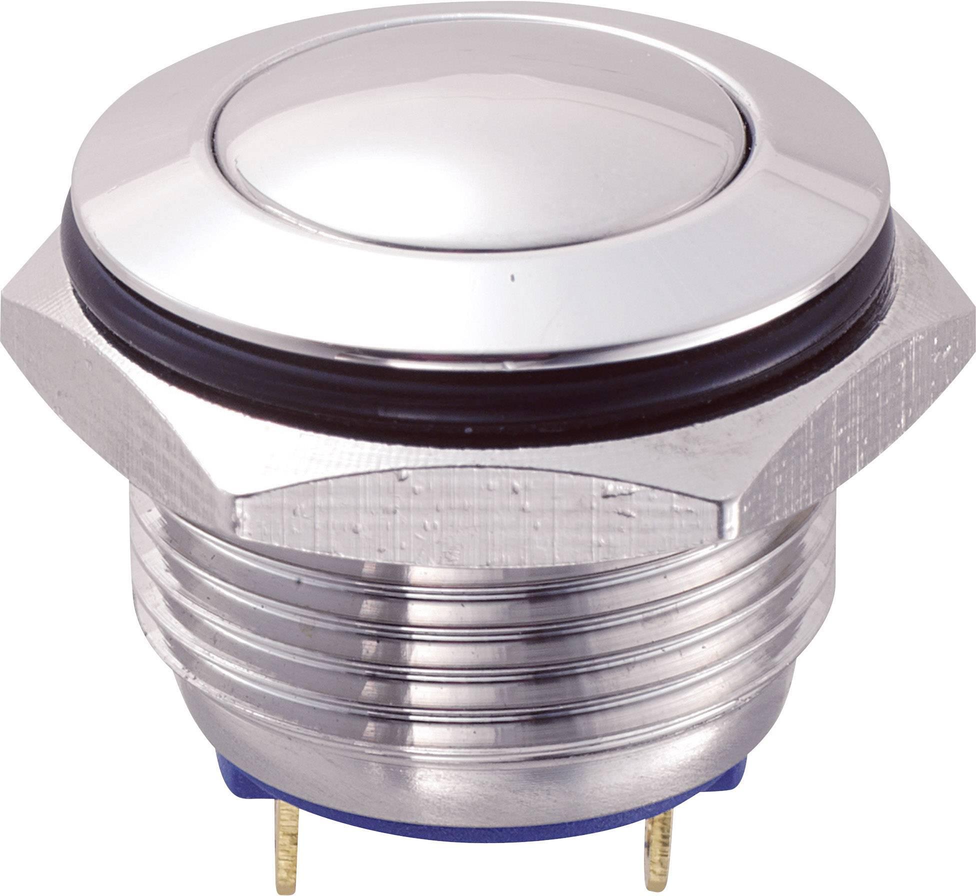 Tlačítko GQ16B-10/J/S (SH1148), 16 mm, 48 V/DC, 2 A, pájené, 1x vyp/(zap)